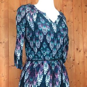Sonoma Southwest Hippie Print Belted Shift Dress S